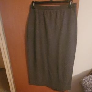 Worthington black tweed knit skirt size XL